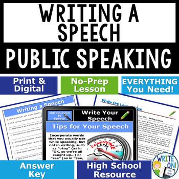 PUBLIC SPEAKING, DEBATE, AND SPEECH - WRITING A SPEECH - H