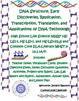 High School Life Science Biology-DNA and RNA
