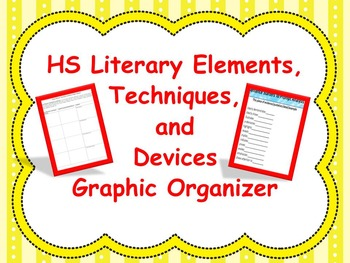 High School Literary Elements, Techniques, and Device Grap