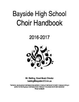 High School Performance Handbook/syllabus