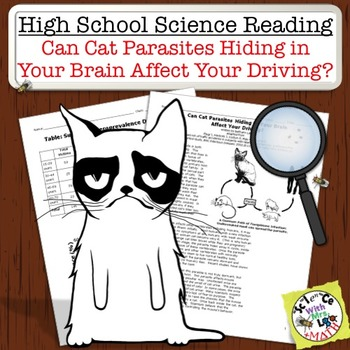 High School Science Reading: Cat Brain Parasites Cause Bad