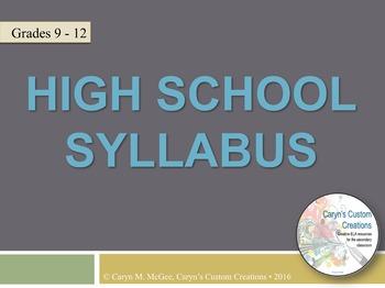 High School Syllabus