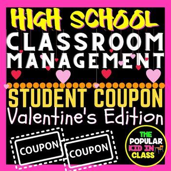 High School Valentine's Day Reward Coupons