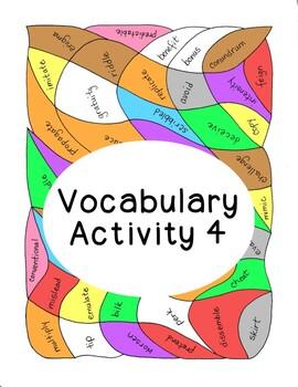 High School Vocabulary Activity Critical Thinking PDF Prin