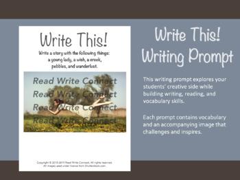 High School Writing Prompt, Creative (Floating Girl)