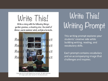 High School Writing Prompt, Creative (Garden Gnomes)