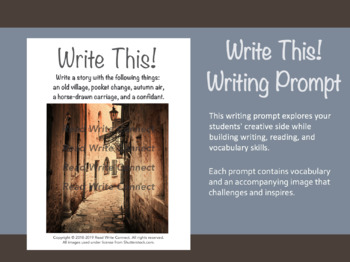 High School Writing Prompt, Creative (Old Alley)