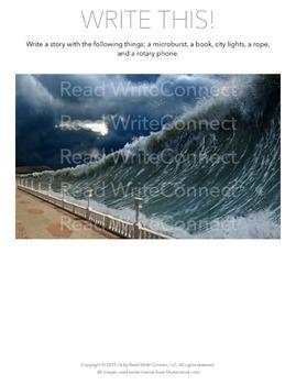 High School Writing Prompt, Creative (Tidal Wave)