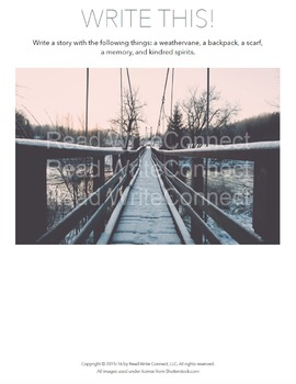High School Writing Prompt, Creative (Winter Bridge)