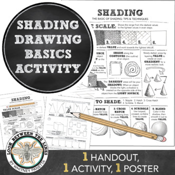 High School or Middle School Visual Art: Shading Basics Ti