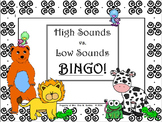 High Sounds vs. Low Sounds BINGO for the Elem. Music Classroom
