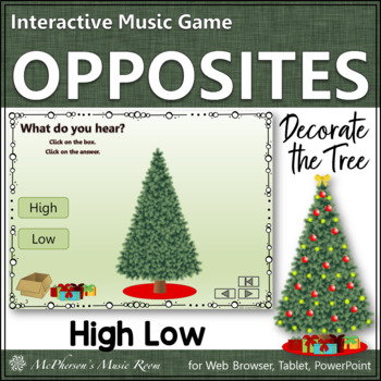 High or Low Interactive Music Game {Decorate the Christmas Tree}