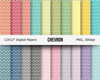 High quality chevron digital papers or background