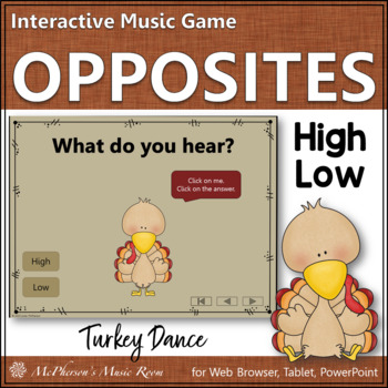 High vs Low - Turkey Dance Interactive Music Game {melody}
