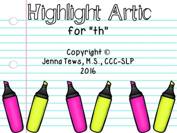 """Highlight Artic for """"th"""""""