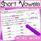 Short Vowels (CVC words): Highlight & Record