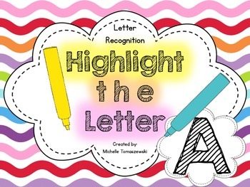 Highlight the Letter {Alphabet Recognition} ... Letter A {