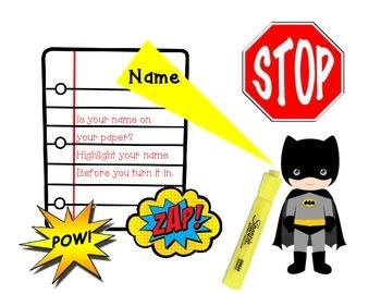 Highlight your name - Batman theme