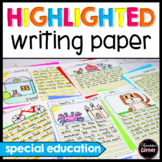Highlighted writing paper *VALUE PACK*