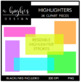 Highlighters {Graphics for Commercial Use}