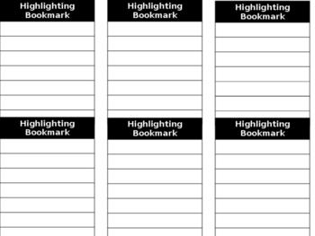 Highlighting Bookmarks