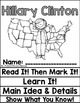 Hillary Clinton Close Reading Flip Flap