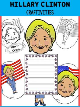 Hillary Clinton - Craftivity Set - Editable