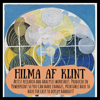 Hilma af Klint abstract artist research and analysis worksheet