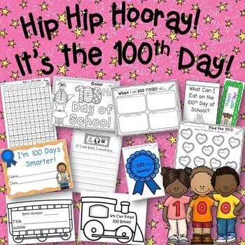 100th Day of School! Hip Hip Hooray! Activities and No Pre