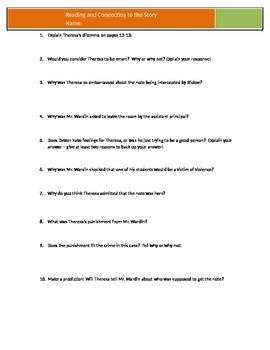 Hip Hop High School - Sitomer - Chapter 2 Questions