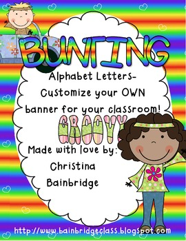 Hippie / Groovy Kids Themed Buntings- Customize Your Own Banner!