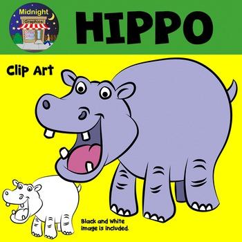 Hippo Hippopotamus Zoo Animals Clip Art
