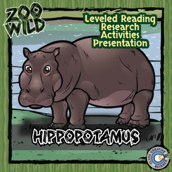 Hippopotamus -- 10 Resources -- Coloring Pages, Reading &