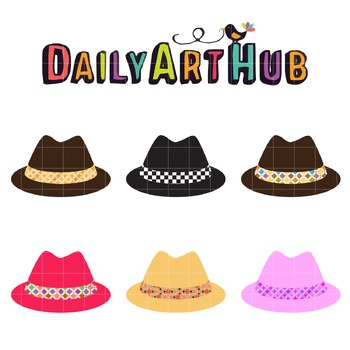 Hipster Hats Clip Art - Great for Art Class Projects!