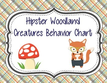 Hipster Woodland Creatures Forest Animals Behavior Chart