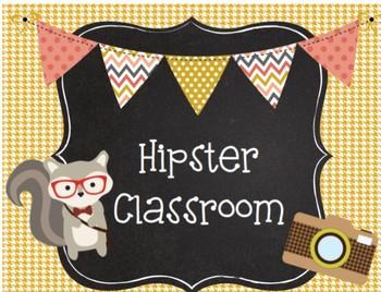 Hipster/Woodland Class Decor Set