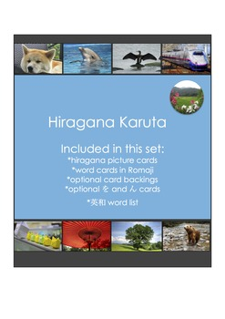 Hiragana Karuta Card Game