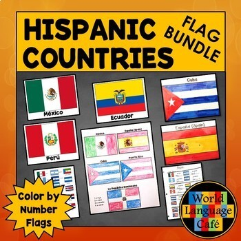 Hispanic Flags for Spanish Speaking Countries