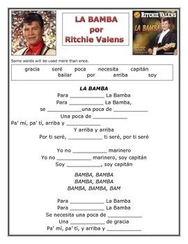 Hispanic Heritage Month La Bamba, Ritchie Valens Song
