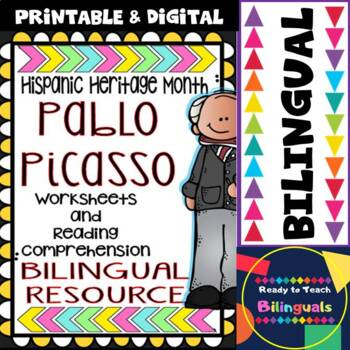 Hispanic Heritage Month - Pablo Picasso - Worksheets and R