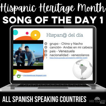 Para Empezar: Song of the day - 1 from each country!