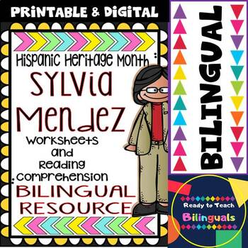Hispanic Heritage Month - Sylvia Mendez - Worksheets and R