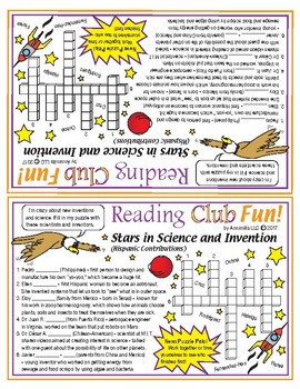 Hispanic Stars in Science and Invention Crossword Puzzle (