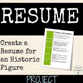 Biography Mini-Project: Build a Resume for Historic Figure