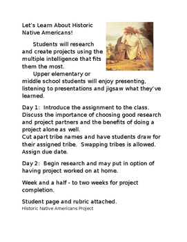 Historic Native Americans Project