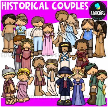 Historical Couples Clip Art Bundle