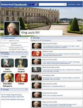 Historical Facebook Lesson Plan and Template