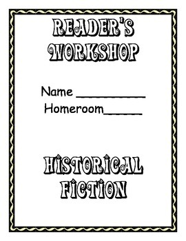 Historical Fiction Unit Cover Page and Book Log