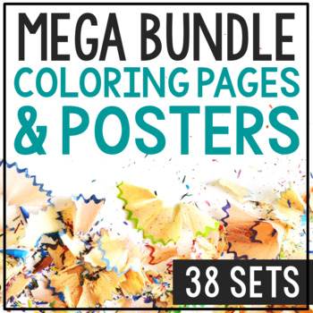 Historical Figure Coloring Pages with Biographies Bundle,