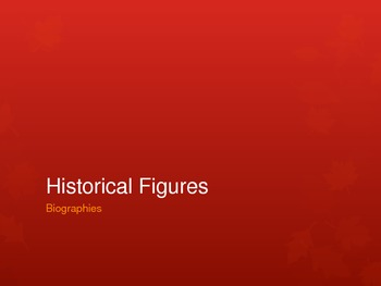 Historical Figures/ Citizenship